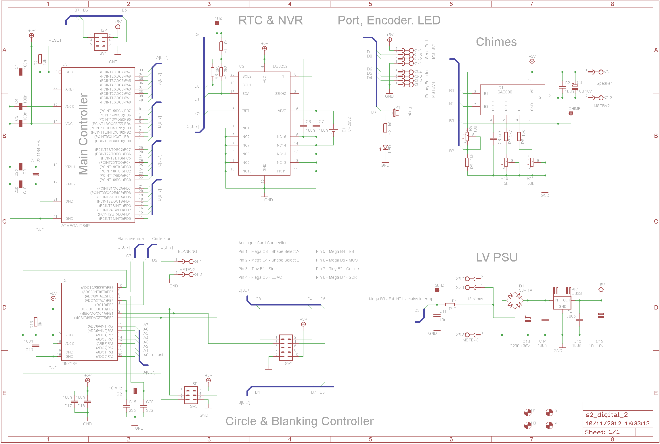 Sgitheach Nixieclock 1 Schematic And Sourcecode Availiable For Connections Are Mostly Made Using Wires On Pin Headers But The Connection To Analogue Card Is Idc Connectors A 10 Way Ribbon Cable